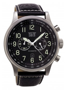Davis - Aviamatic Watch Black