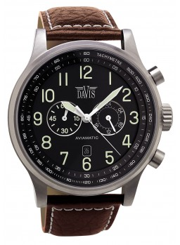 Davis - Aviamatic Watch BrnBlk