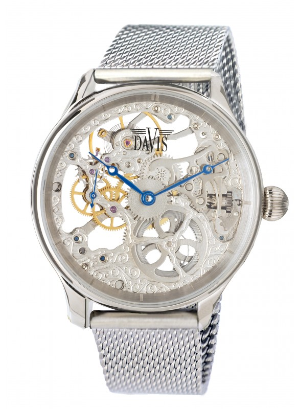 Davis - Scelet Watch Mesh Winder